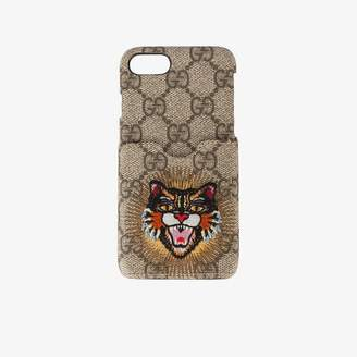 Gucci embroidered Angry Cat iPhone 6/7 case