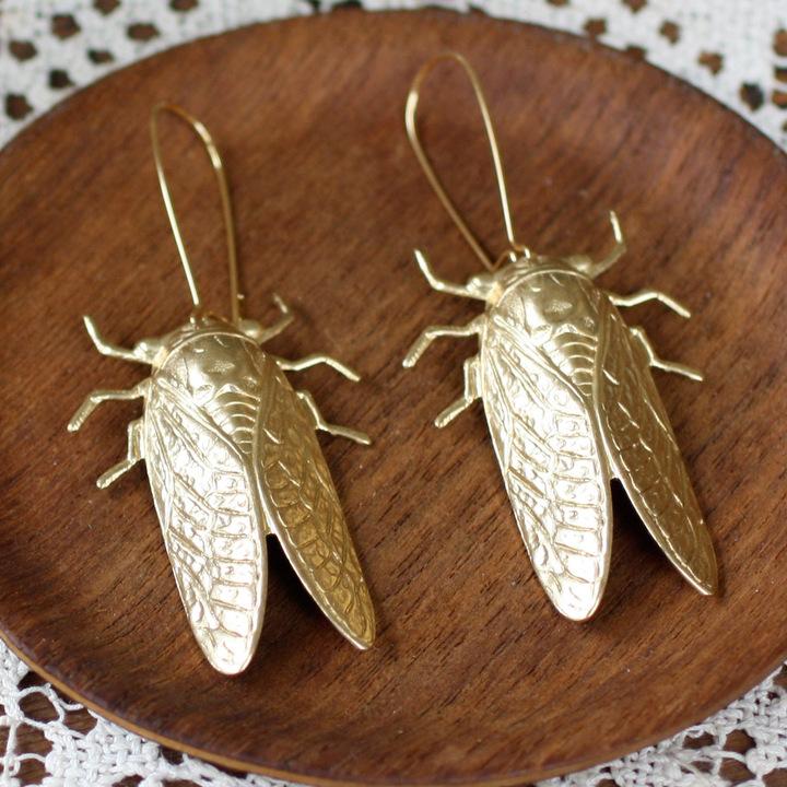 Christine Domanic Cicada Metamorphosis Earrings