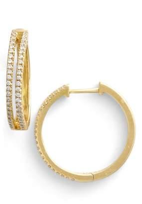 Bony Levy Diamond Split Hoop Earrings