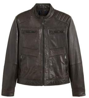 Mango man MANGO MAN Zipper leather biker jacket