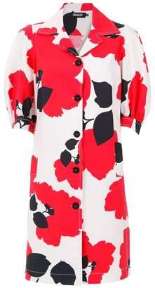 Reinaldo Lourenço floral longline shirt dress