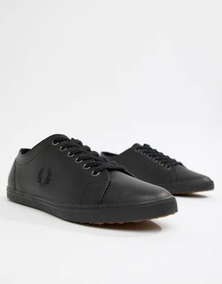 Fred Perry Kingston Leather Sneakers in Black