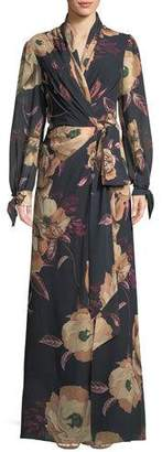 Camilla And Marc Mariposa Long Wrap Dress in Floral Print