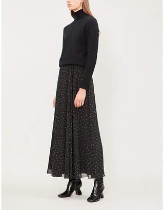 Philosophy di Lorenzo Serafini Crystal-embellished chiffon midi skirt