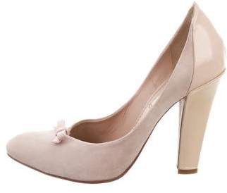 Nina Ricci Suede Pointed-Toe Pumps