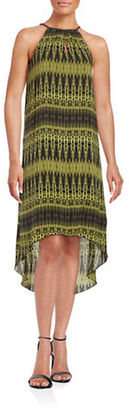 Kensie Printed Hi-Lo Dress $99 thestylecure.com