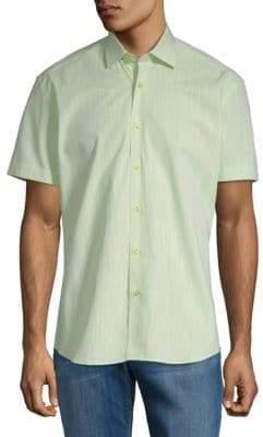 Short-Sleeve Cotton Button-Down Shirt