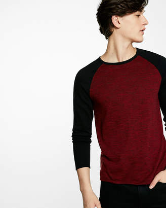 Express Color Block Crew Neck Sweater