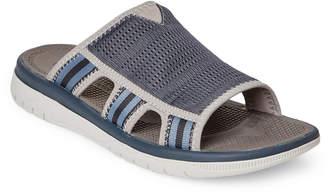 Clarks Navy & Grey Balta Ray Slide Sandals