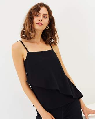 Warehouse Asymmetric Tier Cami Top