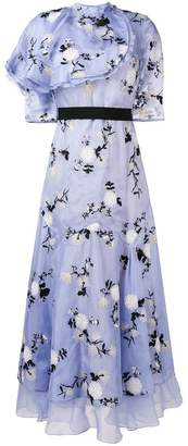 Erdem Hael ruffle floral long dress