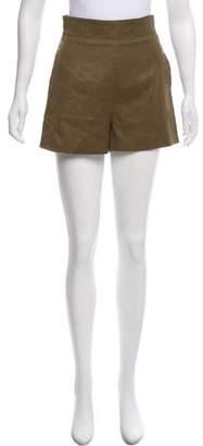 Fendi High-Rise Wool Shorts