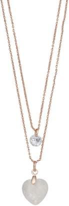Lauren Conrad Layered Heart Pendant Necklace