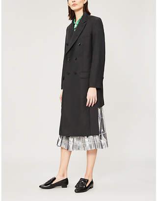 Toga PVC-panel wool-blend coat