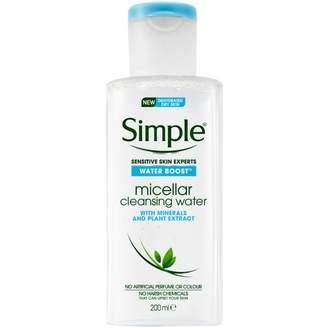 Simple Water Boost Facial Cleanser Micellar Water 200 mL