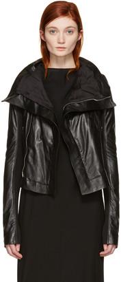 Rick Owens Black Classic Biker Jacket $2,245 thestylecure.com