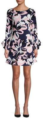 Laundry by Shelli Segal Floral Ruffle-Sleeve Shift Dress