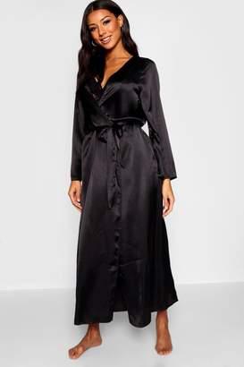 boohoo Satin Kimono Maxi Robe