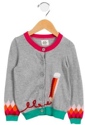 Boden Mini Girls' Intarsia Button-Up Cardigan