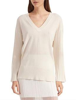 Dion Lee Corrugated Pleat Cashmere Sweater