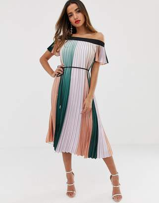 Ted Baker Fernee maxi dress in color block pleat