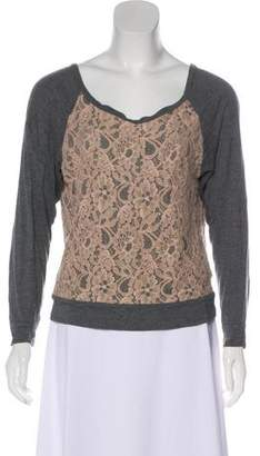 Haute Hippie Long Sleeve Lace Top