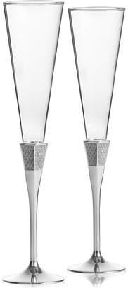Waterford Lismore Diamond Toasting Flutes, Set Of 2