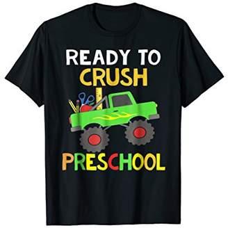 Preschool Monster Truck Back to School Boys Gift T-shirt