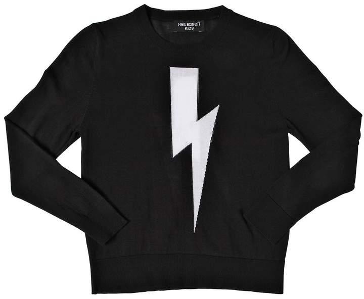 Bolt Intarsia Cotton Knit Sweater