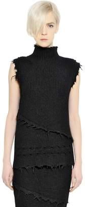 Damir Doma Wool & Alpaca Sweater With Raw Cut Edges