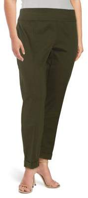 Lord & Taylor Plus Kelly Straight Leg Trousers