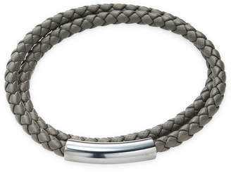 Bottega Veneta Leather Wrap Bracelet
