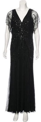 Jenny Packham Embellished Evening Gown w/ Tags $1,450 thestylecure.com