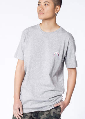 Barney Cools Tee Rainbow Patch | Wildfang - Rainbow Tee - GREY - XSMALL