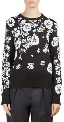 KENZO Floral Intarsia Crewneck Sweater $345 thestylecure.com