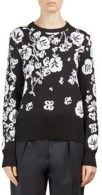 KENZO Floral Intarsia Crewneck Sweater $345 thestylecure.com