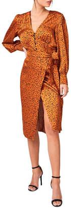 Girls On Film Clement Rust Animal-Print Midi Skirt