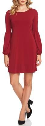 CeCe Bishop Sleeve A-Line Knit Dress