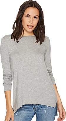 Kensie Women's Drapey French Terry Tie Back Sweatshirt