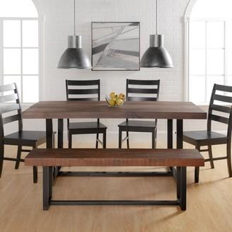 Manor Park 6-Piece Farmhouse Dining Set - Mahogany/Black