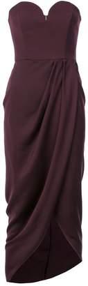 Shona Joy wrap detail strapless dress