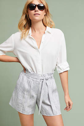 Anthropologie Yarn-Dyed Linen Shorts