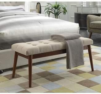 Convenience Concepts Designs4Comfort Van Dyke Mid Century Bench