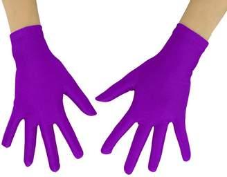 """Shinningstar Women's Men's Adult 10"""" Wrist Length Lycra Spandex Full Finger Stretchy Short Gloves"""
