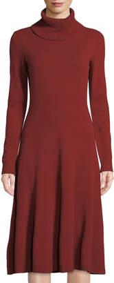 Lafayette 148 New York Long-Sleeve Cashmere Turtleneck Dress