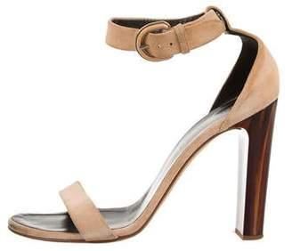 Proenza Schouler Suede Ankle Strap Sandals