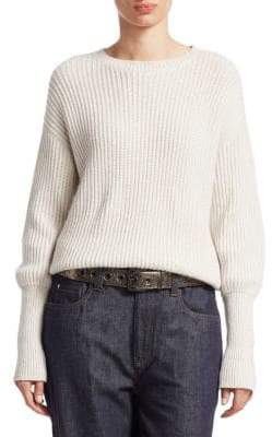 Brunello Cucinelli Cashmere& Silk Ribbed Sweater