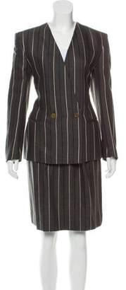 Giorgio Armani Virgin Wool Knee-Length Skirt Suit