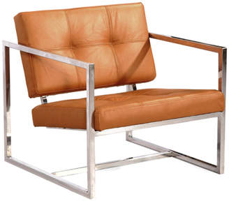 808 Home Modern 1950 Leather Cube Chair