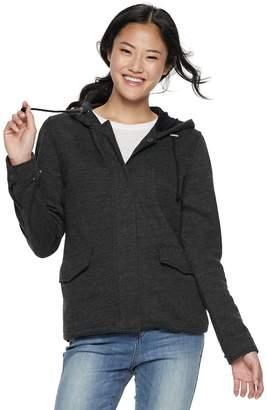 Juniors' Sebby Vintage Fleece Hooded Jacket